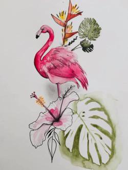 Tattoo Flash Flamand Rose
