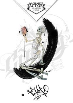 Tattoo Flash squelette