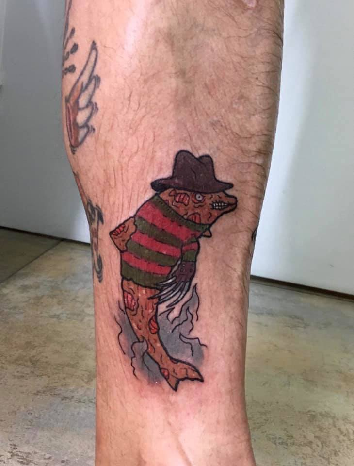 Tatouge requin Freddy Krueger
