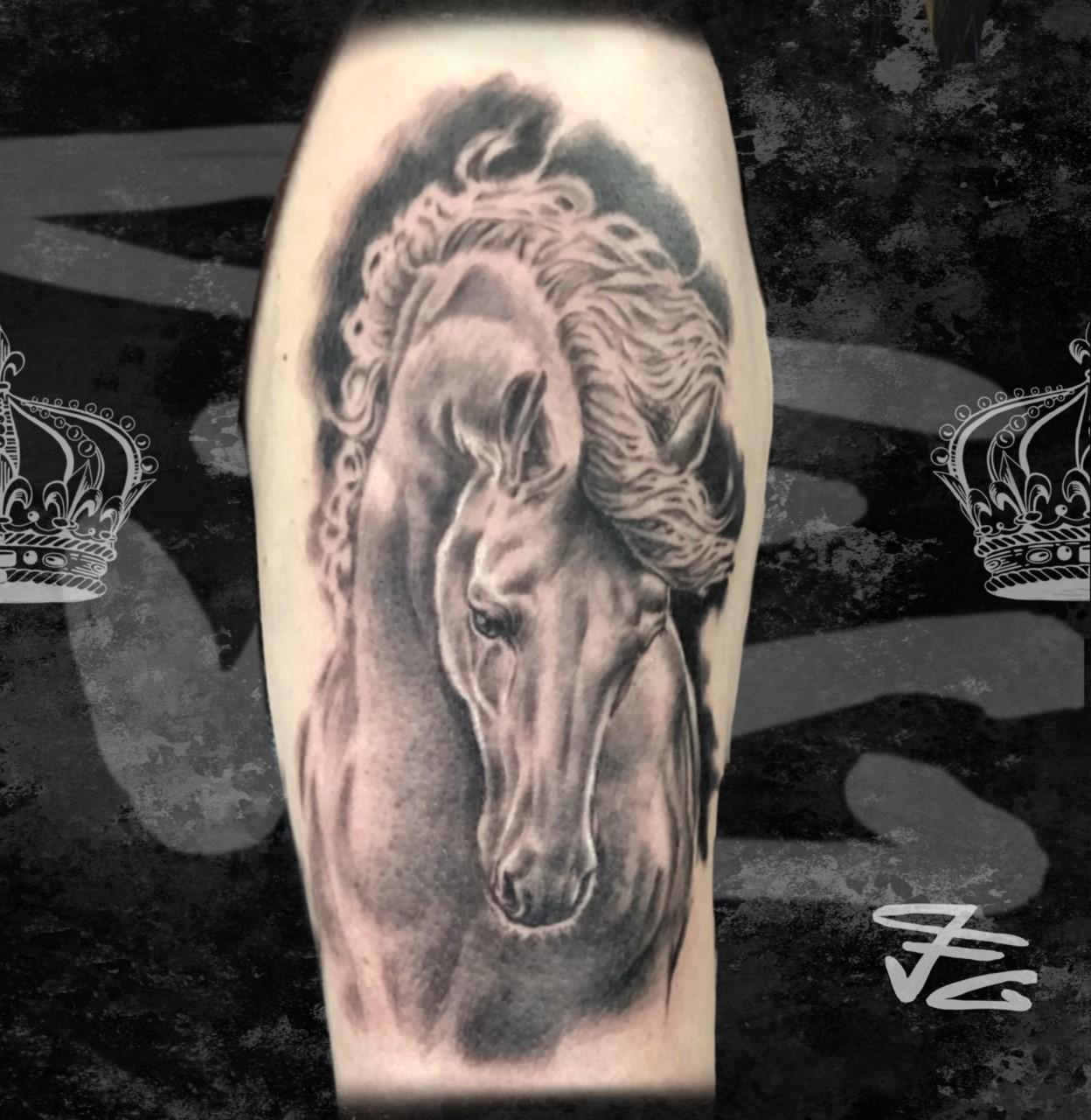 Tatouage cheval réaliste