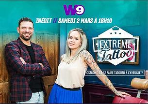 Emission Extreme Tattoo sur W9 avc Yaiza Rubio