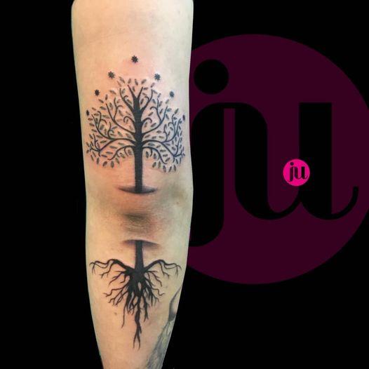 Tatouage arbre seigneur des anneaux