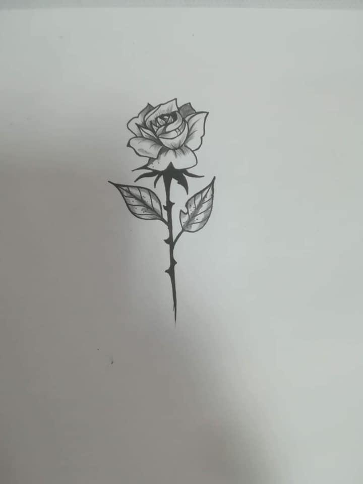 Motif à tatouer rose