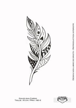 Tattoo flash plume