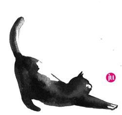 Tattoo flash chat noir
