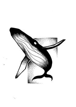 Tattoo flash baleine