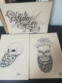 Flash Lettrage et skull Carso
