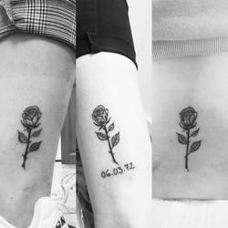 Rose Tattoo Mère fille