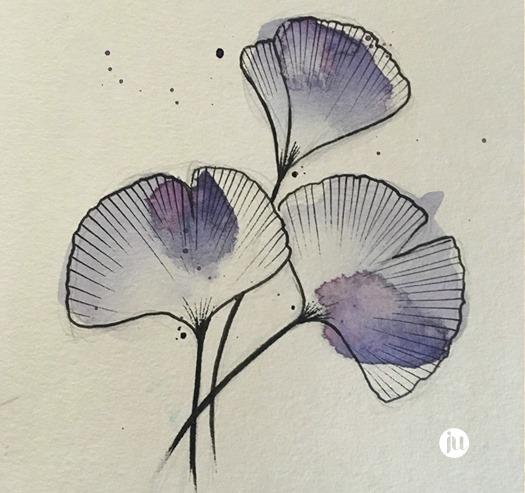 Tattoo flash floral Ju