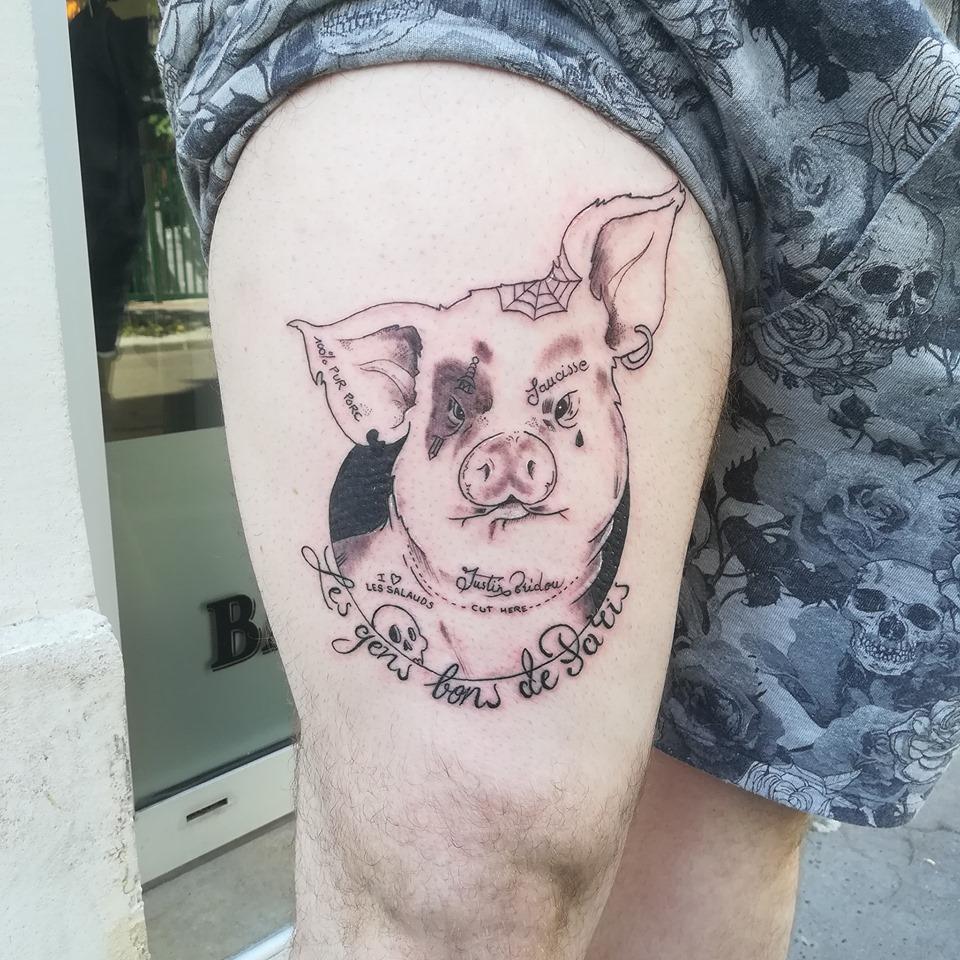 Tatouage Cochon
