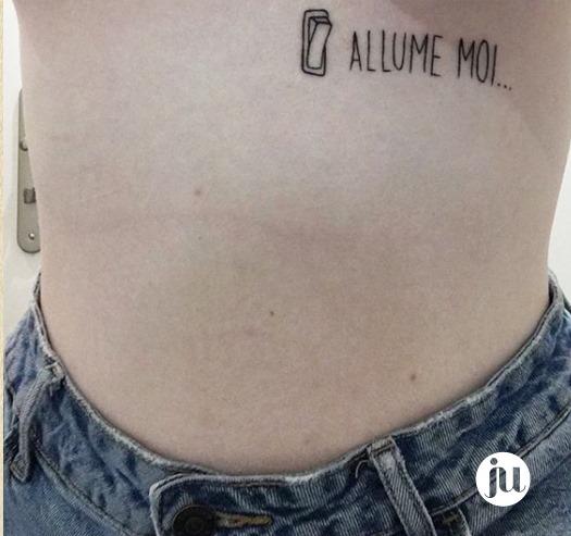 Tatouage phrase