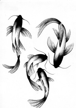 tattoo flash fish dot work