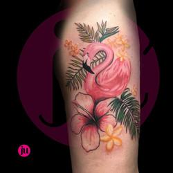 Tatouage flamand rose