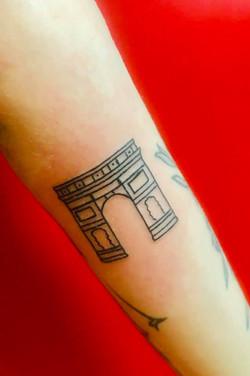 Tatouage Arc de Triomphe Paris