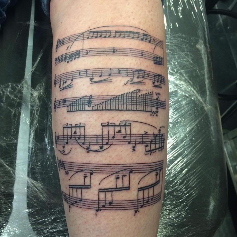 Tatouage partition musique