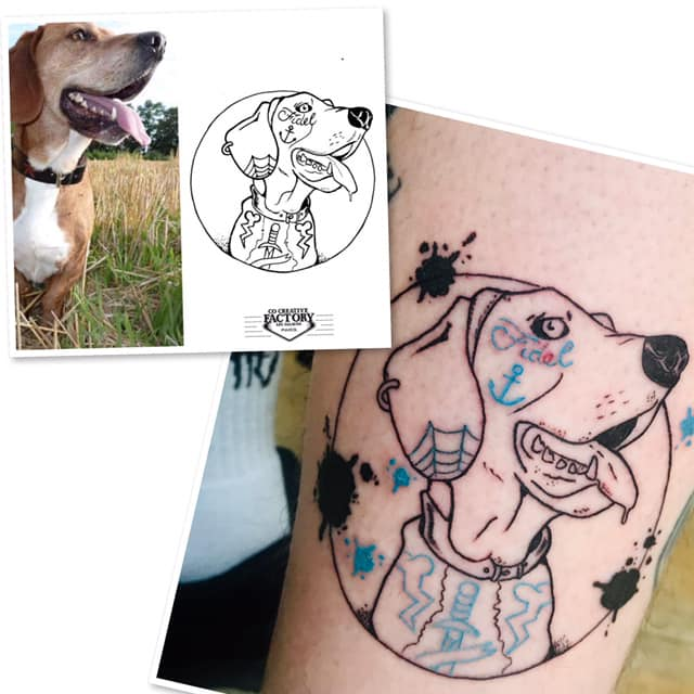 Tatouage photo chien