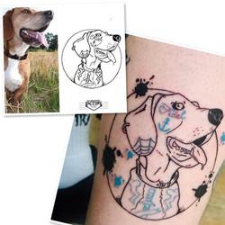 Tatouage photo chien