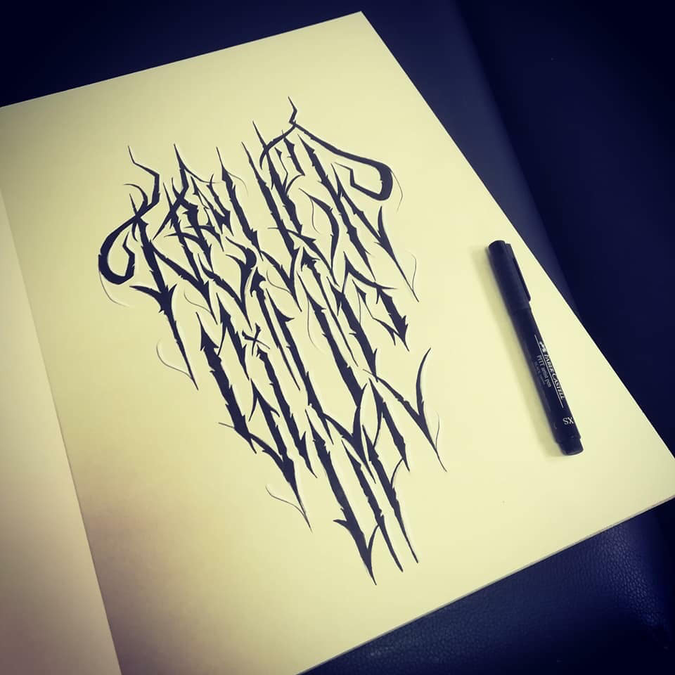 Tattoo Flash Lettrage