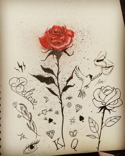 Tattoos flash fleurs