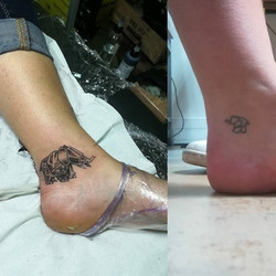 Tattoo cover up éléphant