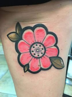 Tatouage fleur couleur