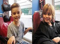 Coupe cheveux enfant avant-après