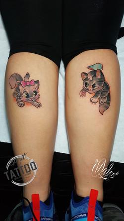 Tatouage New school petits chatons