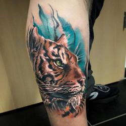Tatouage tigre réaliste
