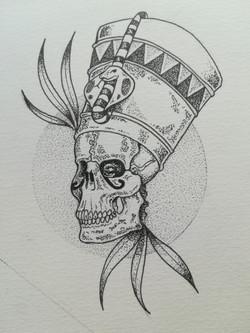 Tatouage skull pharaon