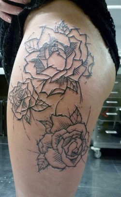 Roses graphiques, gravure - Yaiza Rubio.