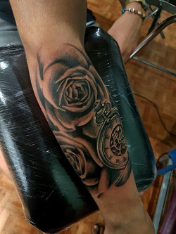 Roses noir et gris - Yaiza Rubio