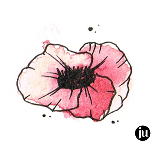Tatouage pavot Aquarelle