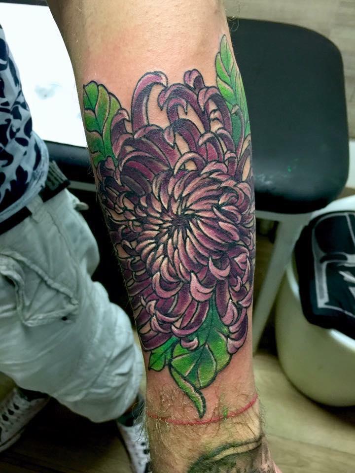 Fleur, traditionnel, couleur, inspiratio
