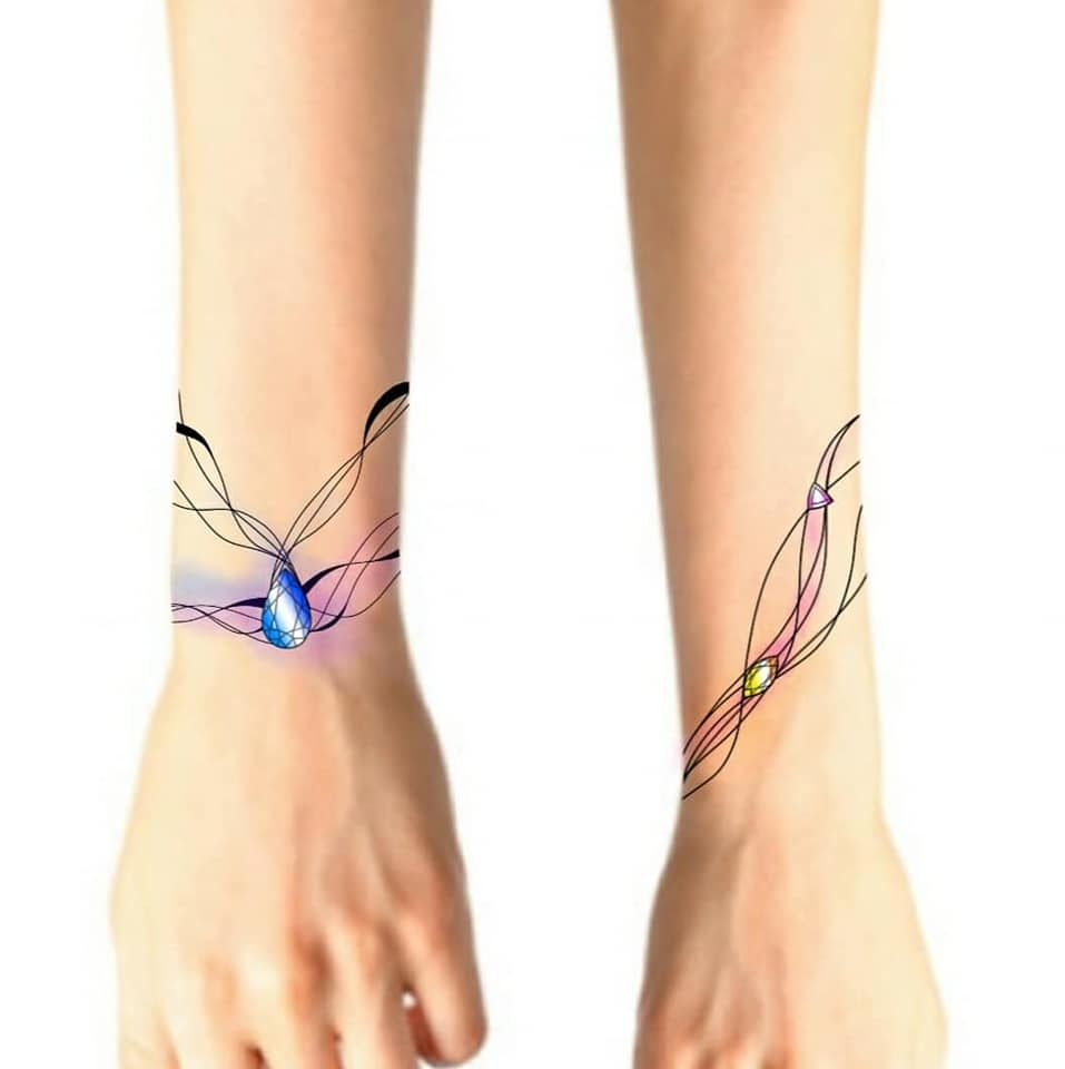 Tattoo Flash bracelet ornemental