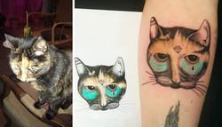 Tatouage chat à partir d'une photo