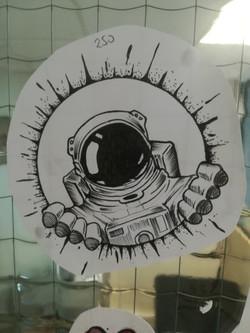 Tatouage cosmonaute