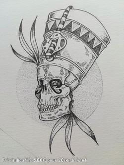 Tattoo Flash pharaon squelette