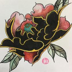 Tattoo Flash Fleur Old school