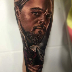 Tatouage Leonardo Di Caprio Django