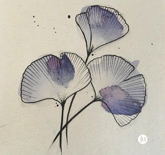 Tatouage Fleur Aquarelle