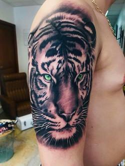Tatouage tigre bras