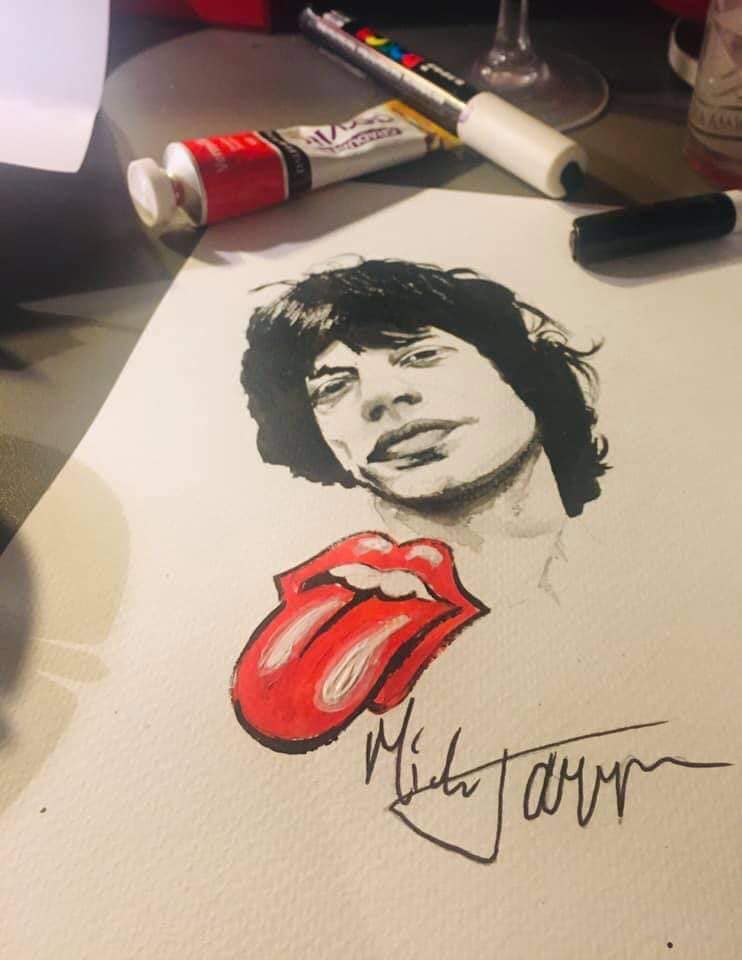 Tattoo Flash Rolling Stones