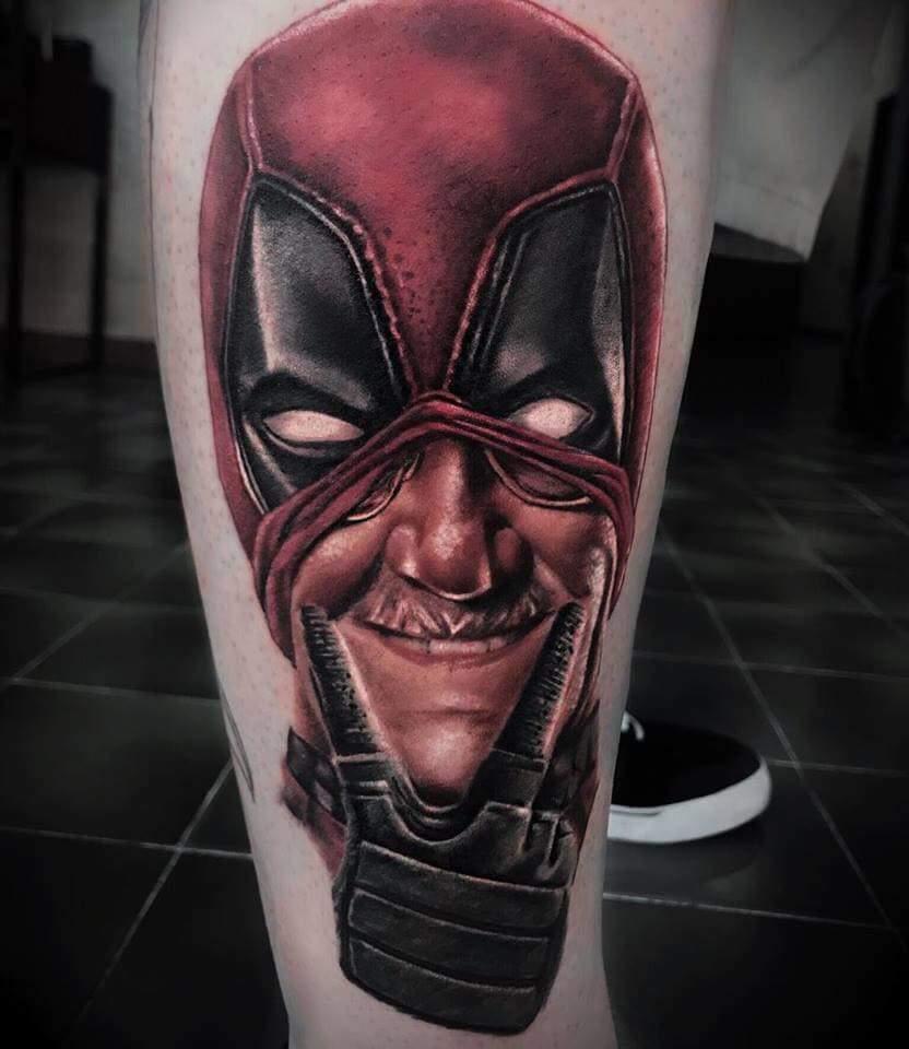 Tatouage réaliste Deadpool