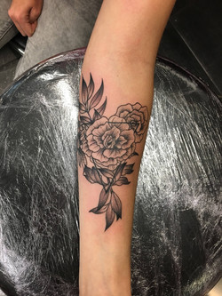 Fleur graphique noir et blanc