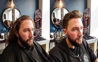 Coupe homme avant et après