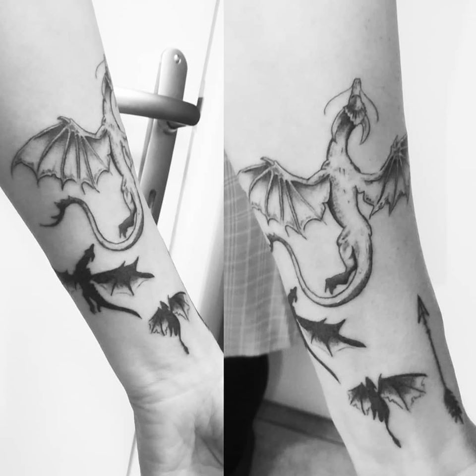 Tatouage 3 dragons