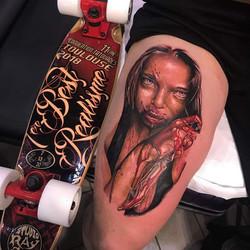 Tatouage horreur femme tueuse