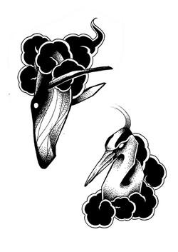 Tattoo flash nuage