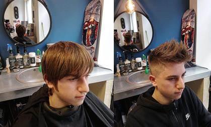Coupe cheveux homme avant-après