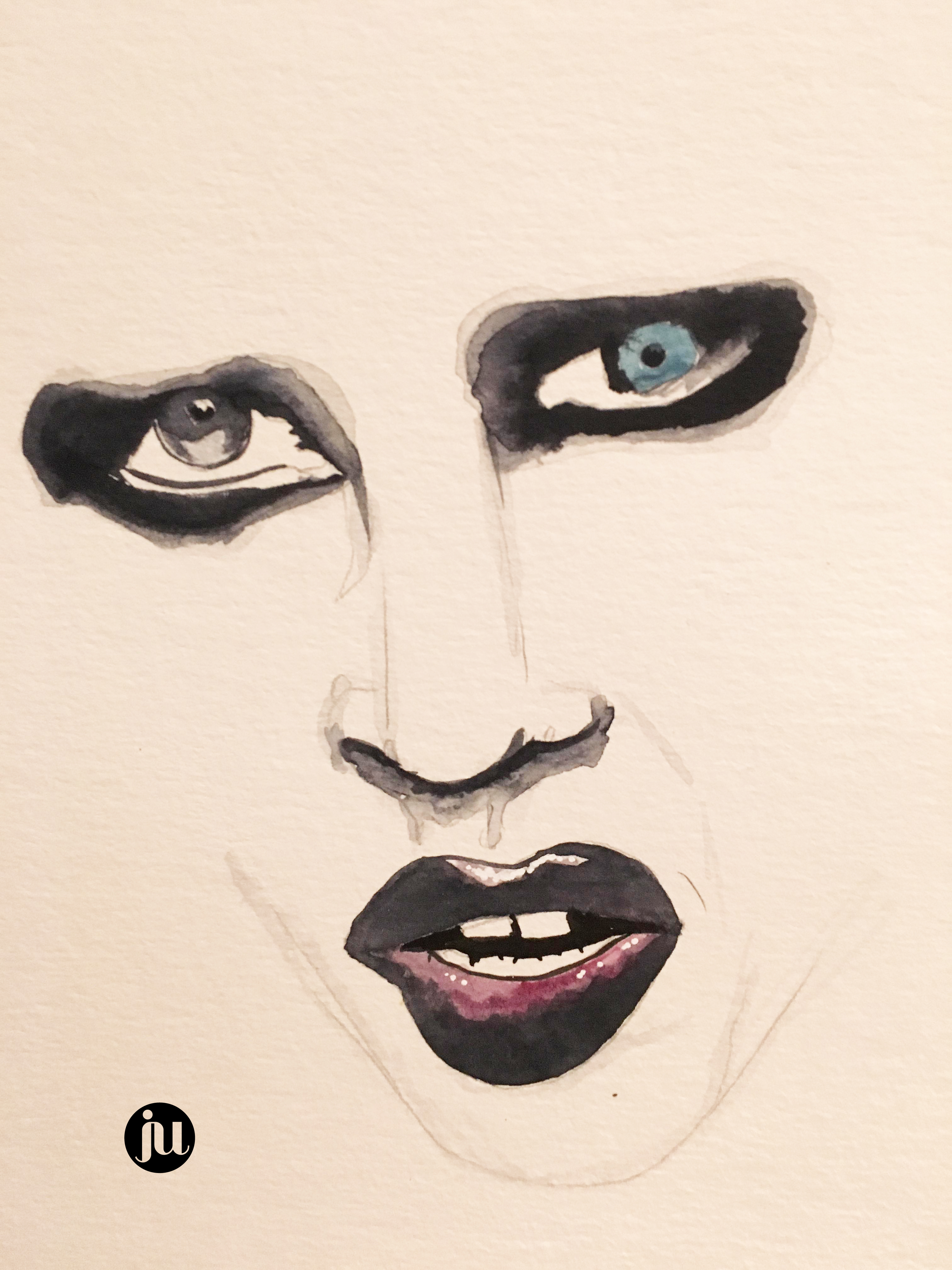 Tatouage Marylin Manson Aquarelle